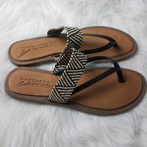 Skechers Shoes - Sketchers Crochet Geometric Printed Sandals 10